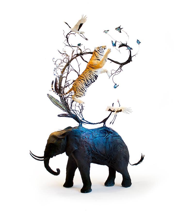 Ellen Jewett - tigre e elefante