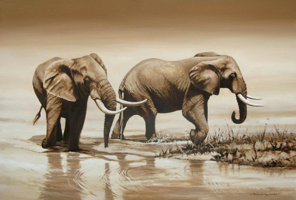Richard Symonds pintura elefante 3