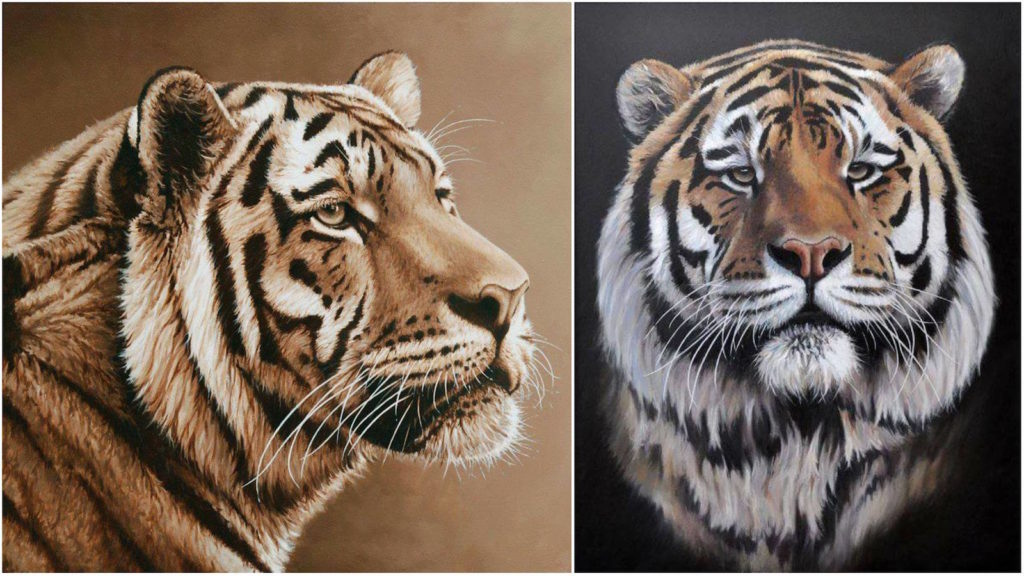 Richard Symonds tigre pintura