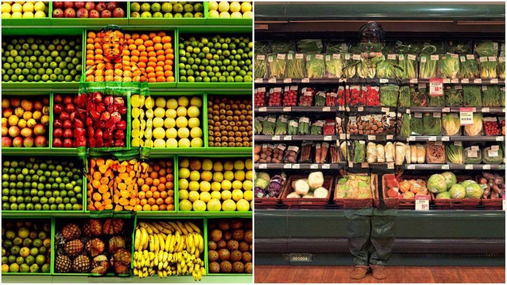 liu bolin - frutas