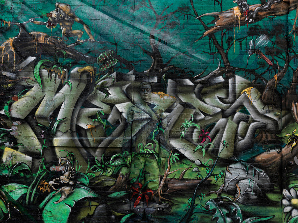 liu bolin graffiti
