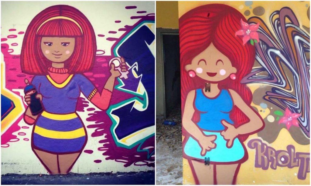 KROL graffiti street art
