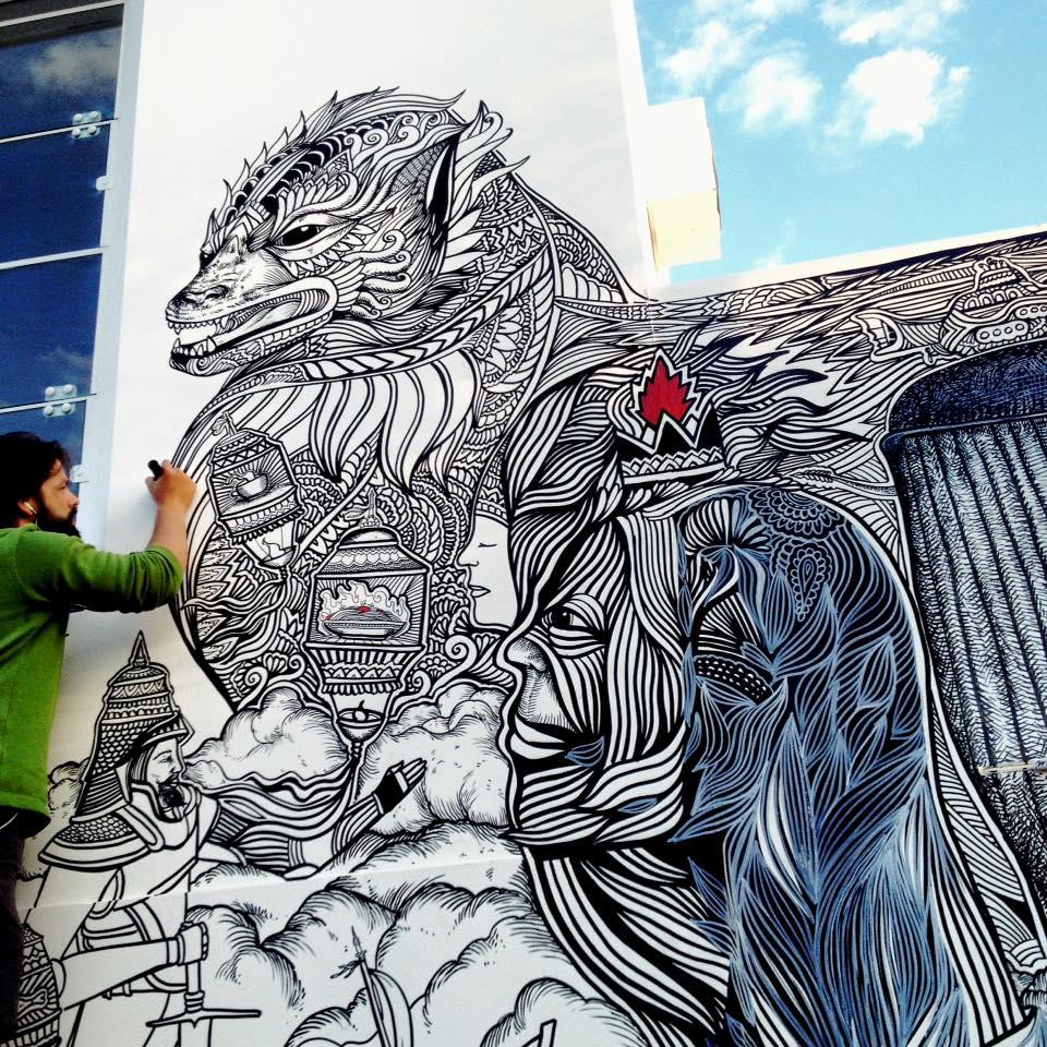 mural ilustra z ezekiel foodog