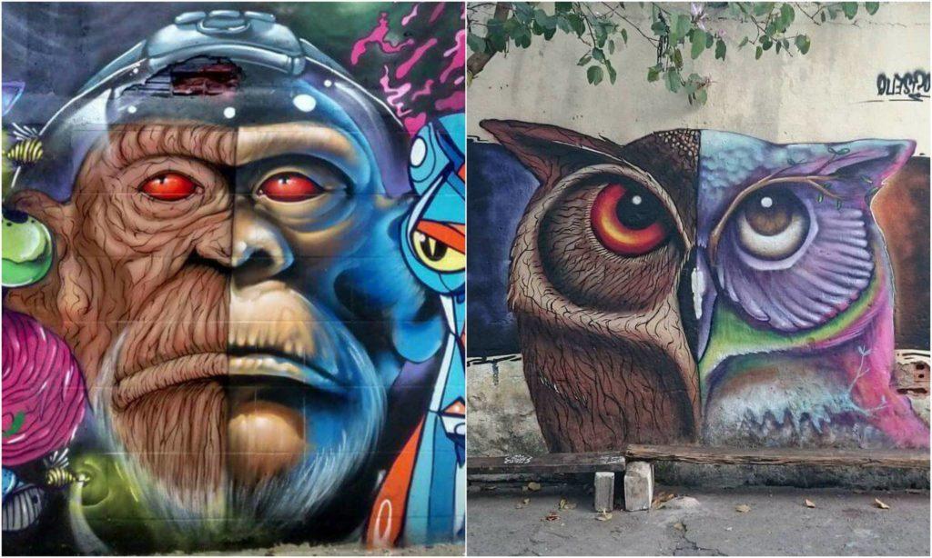 sapiens e joks - mural