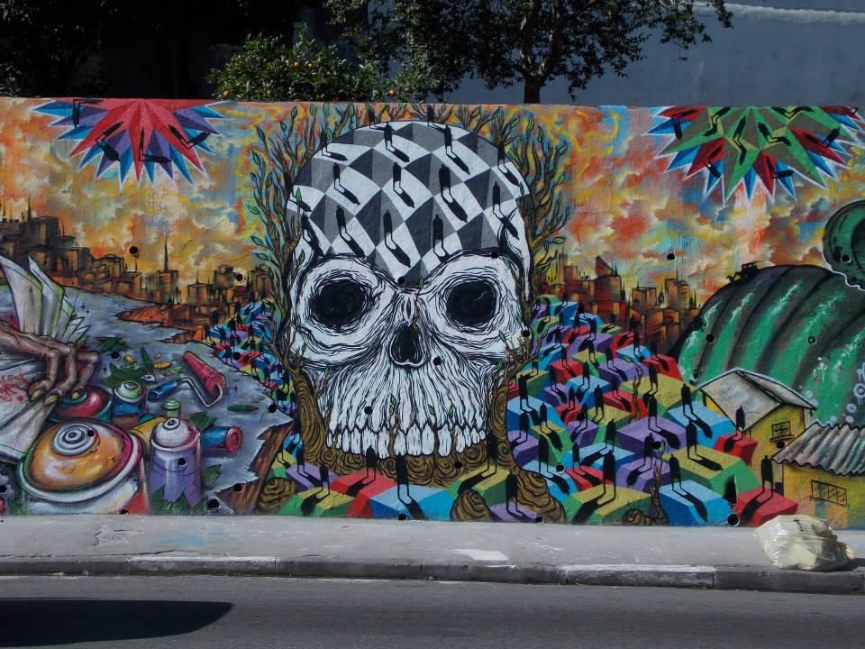 sapiens mural skull joks