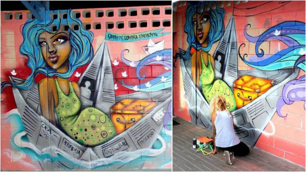 Crica Monteiro - graff enchente