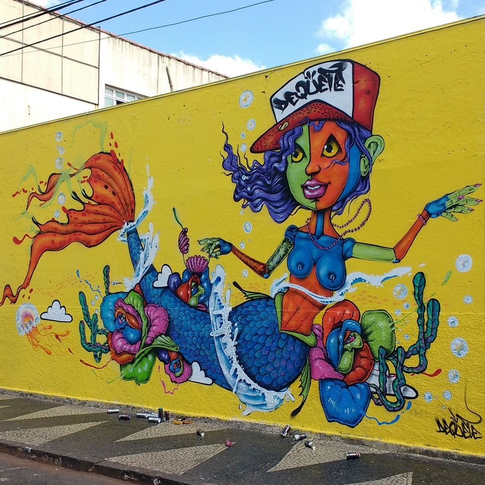 DEQUETE Mural Sereia