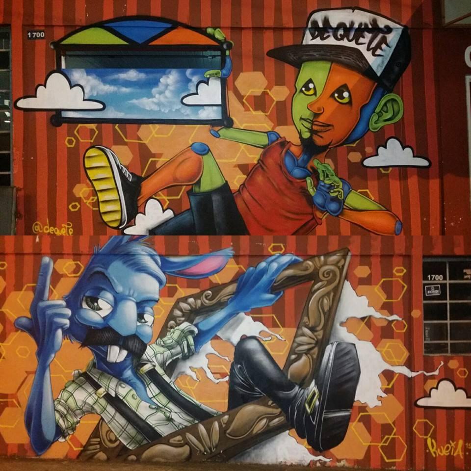 Dequete e Kueia - mural