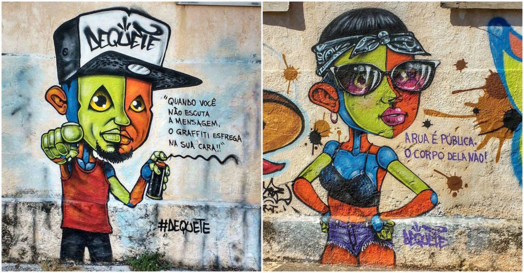 Dequete - rua graffiti