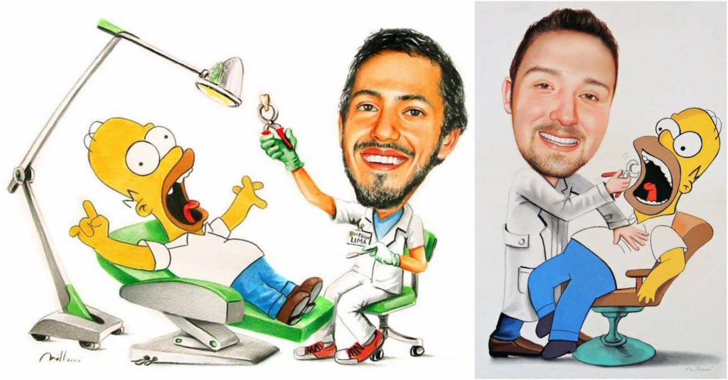 Fabiano Millani - Caricatura dentista draw