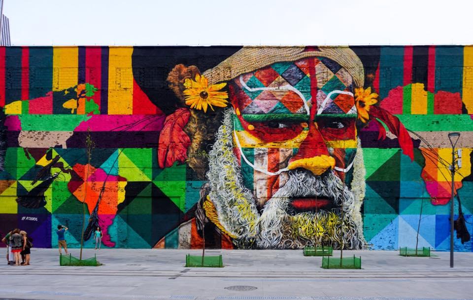 Mural - Povo Huli - Papua - Nova Guiné - Guiné Huli
