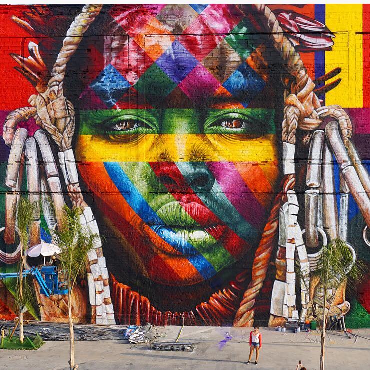 Mural - tribo Mursi da Região da Etiópia - mural - Mursi Tribe - África