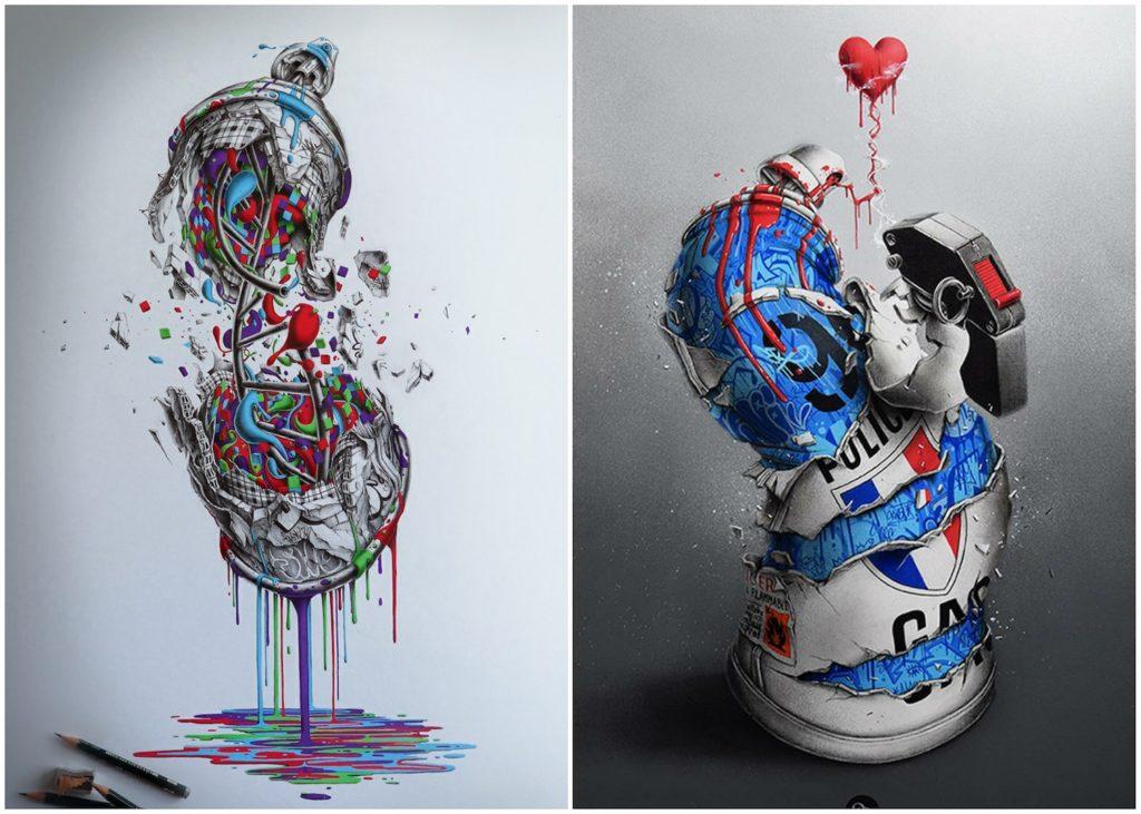Pez - Spray art