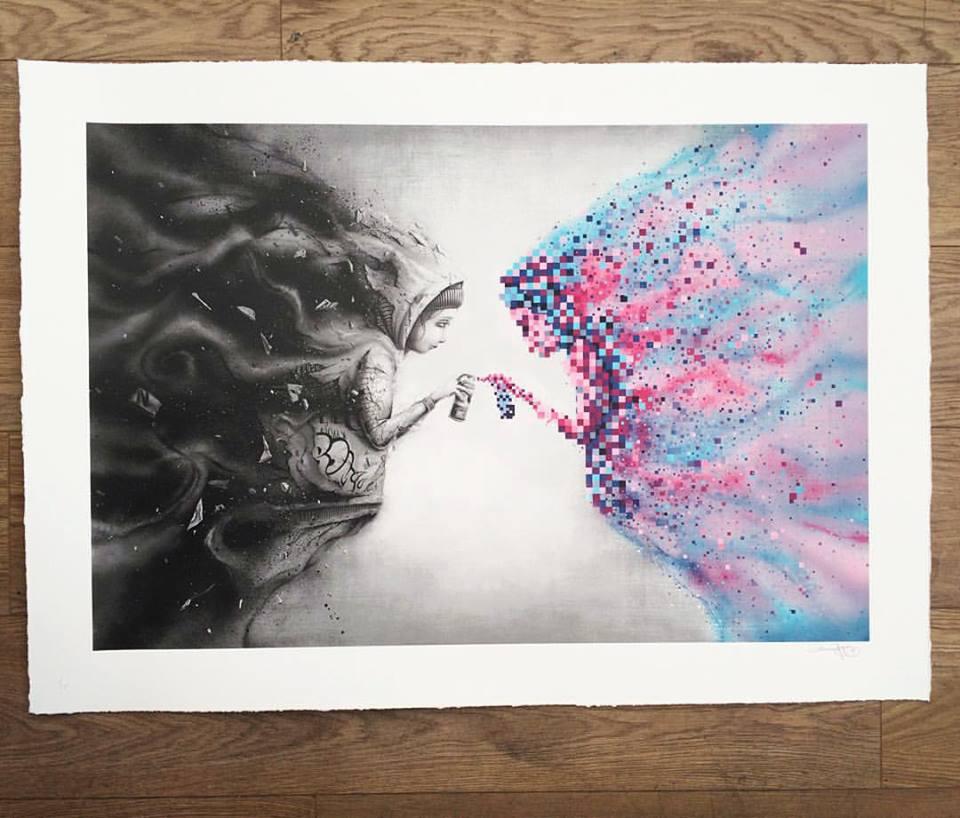 pez - espelho preto art