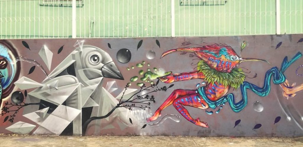Amazon e Calangos - Mural graffiti