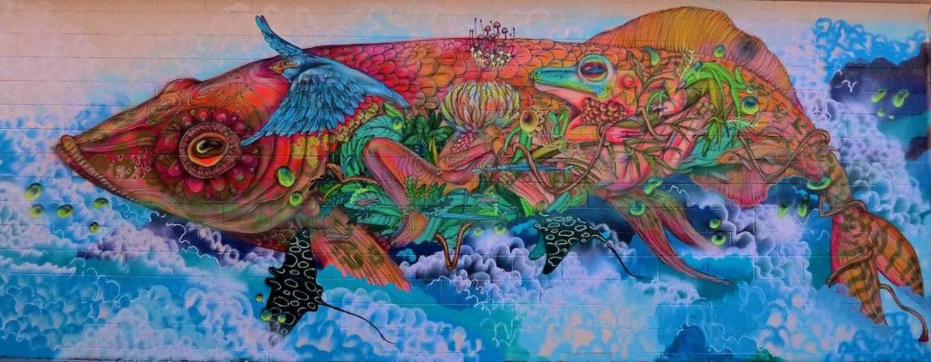 Calangos - mural graffiti peixe natureza