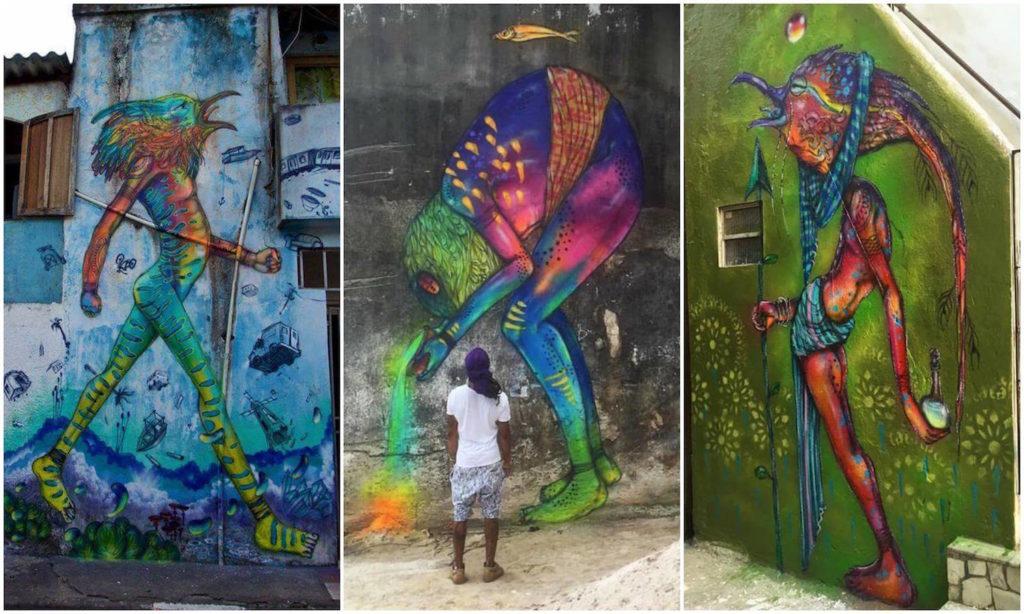Eder Muniz - Calangos - natureza graffiti mural