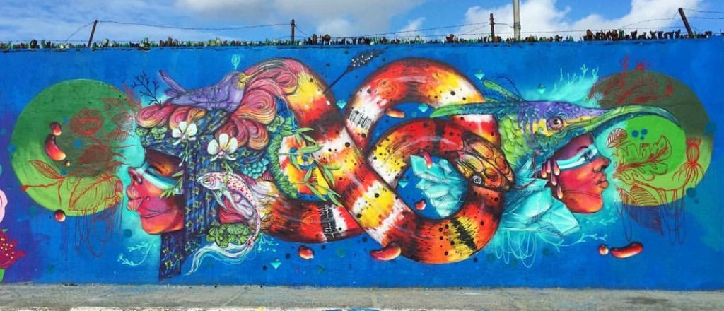 Eder Muniz e Tarcio Vasconcelos mural wall graffiti