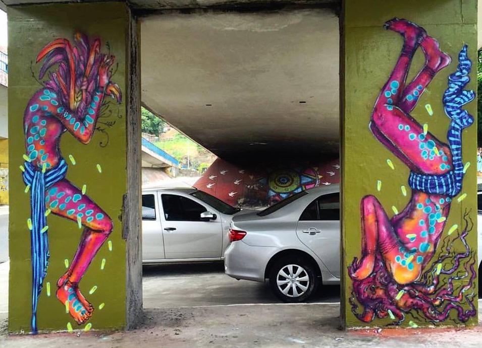 calangos - mural nature art graff