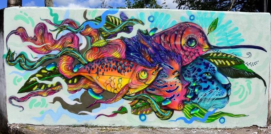 eder muniz calangos - natureza animais mural