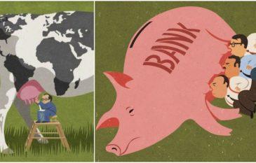 Sátiras e Criticas Sociais do ilustrador John Holcroft