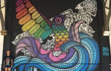 """Conheça a artista """"Rafa Mon"""" e seus Murais"""